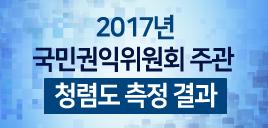 2017년도 권익위 주관 청렴도 측정결과
